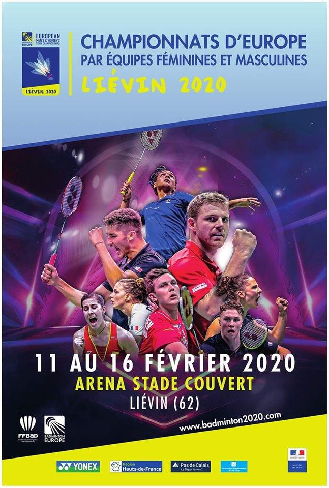 du 11 au 16 février 2020 – Championnats d'Europe par équipes à LIEVIN